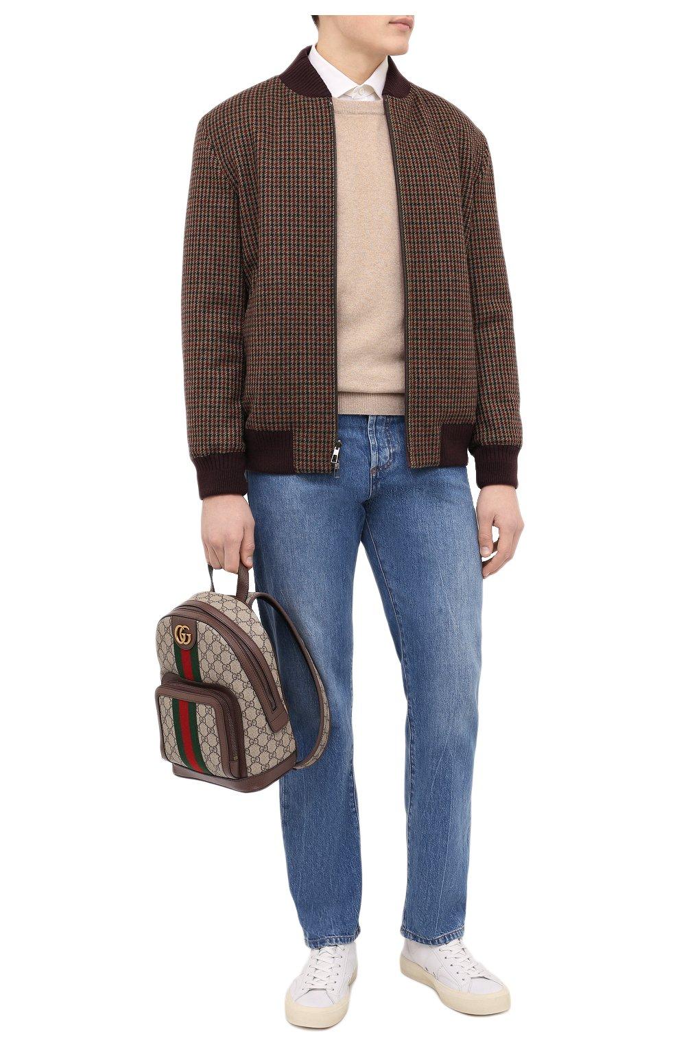 Мужской рюкзак ophidia GUCCI бежевого цвета, арт. 547965/9U8BT | Фото 3