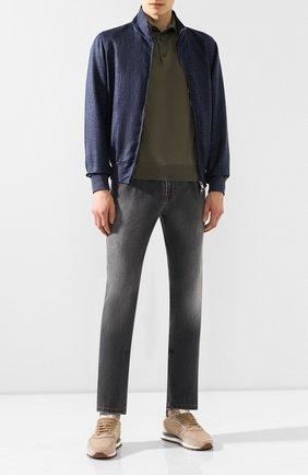Мужские джинсы прямого кроя ANDREA CAMPAGNA серого цвета, арт. AC302/T81.W916 | Фото 2