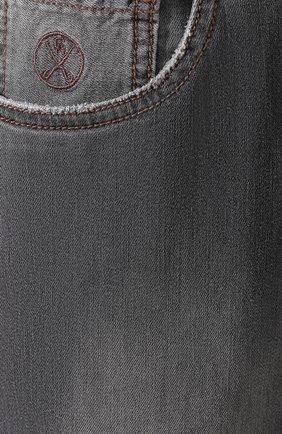 Джинсы прямого кроя Andrea Campagna серые | Фото №5