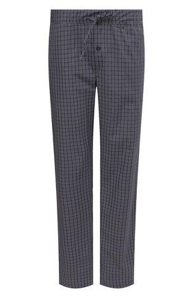 Мужские хлопковые домашние брюки HANRO синего цвета, арт. 075436 | Фото 1