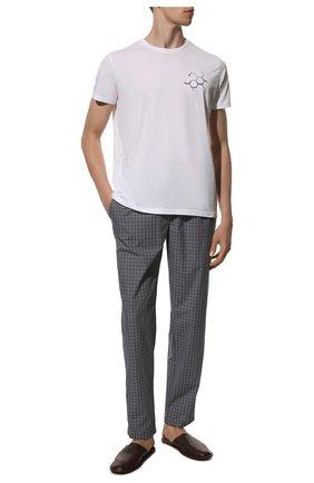 Мужские хлопковые домашние брюки HANRO синего цвета, арт. 075436 | Фото 2