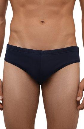 Мужские плавки DSQUARED2 синего цвета, арт. D7B312410 | Фото 2 (Материал внешний: Синтетический материал; Статус проверки: Проверено; Кросс-КТ: Пляж; Мужское Кросс-КТ: плавки)