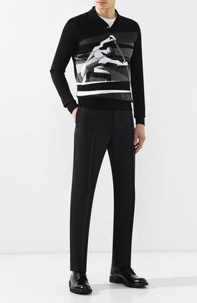 Мужские брюки из смеси шелка и вискозы RALPH LAUREN черного цвета, арт. 798743990 | Фото 2