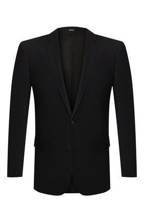 Мужской шерстяной пиджак KENZO темно-синего цвета, арт. 5VE2201AI   Фото 1