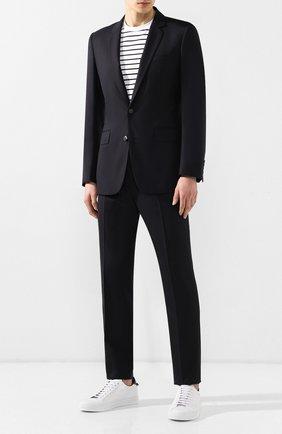 Мужской шерстяной пиджак KENZO темно-синего цвета, арт. 5VE2201AI   Фото 2