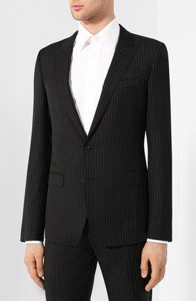 Мужской шерстяной костюм DOLCE & GABBANA черного цвета, арт. GK0RMT/FR2VB | Фото 2