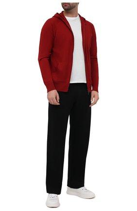 Мужской кардиган из шелка и кашемира LORO PIANA красного цвета, арт. FAF2670 | Фото 2
