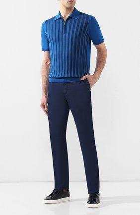 Мужские джинсы прямого кроя ZILLI темно-синего цвета, арт. MCR-00240-DELX1/S001 | Фото 2