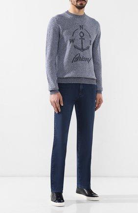 Мужские джинсы прямого кроя ZILLI синего цвета, арт. MCR-00230-JACL1/R001 | Фото 2