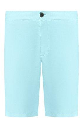 Мужские льняные шорты Z ZEGNA голубого цвета, арт. VS160/ZZ382 | Фото 1