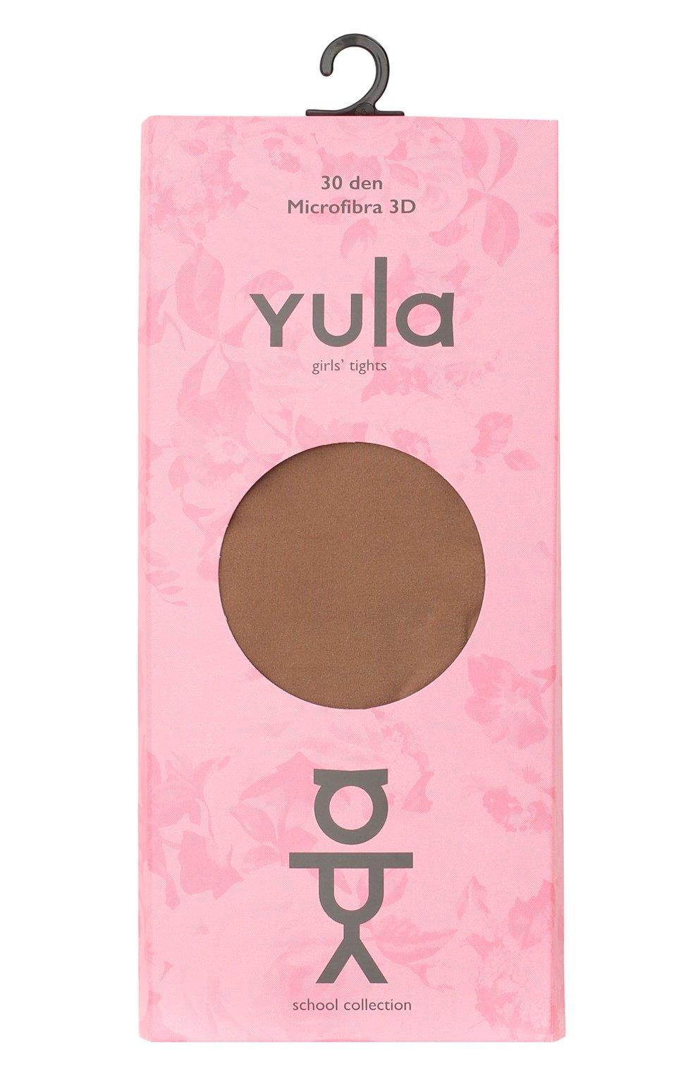 Детские колготки fusion 3d 30 den YULA светло-коричневого цвета, арт. YU-17 | Фото 1