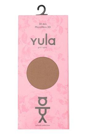 Детские колготки fusion 3d 30 den YULA светло-коричневого цвета, арт. YU-18 | Фото 1