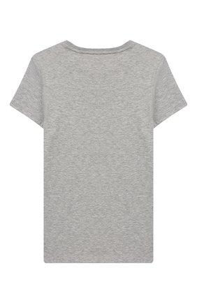 Детская хлопковая футболка GUCCI серого цвета, арт. 554879/XJA0V | Фото 2