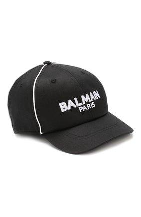 Детская хлопковая бейсболка BALMAIN черного цвета, арт. 6K0587/KX390 | Фото 1