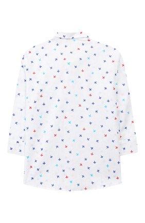 Детский хлопковая рубашка ALETTA белого цвета, арт. RJ99368/1M-18M   Фото 2 (Материал внешний: Хлопок; Статус проверки: Проверена категория, Проверено; Рукава: Длинные)