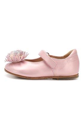 Кожаные туфли с застежкой велькро | Фото №2