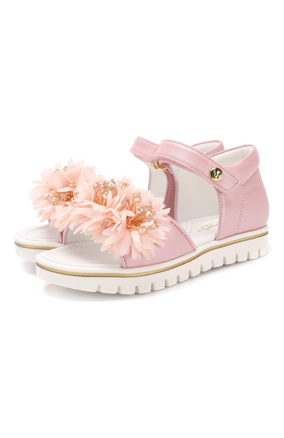 Детские кожаные сандалии с застежкой велькро MISSOURI розового цвета, арт. 5114/18-26 | Фото 1