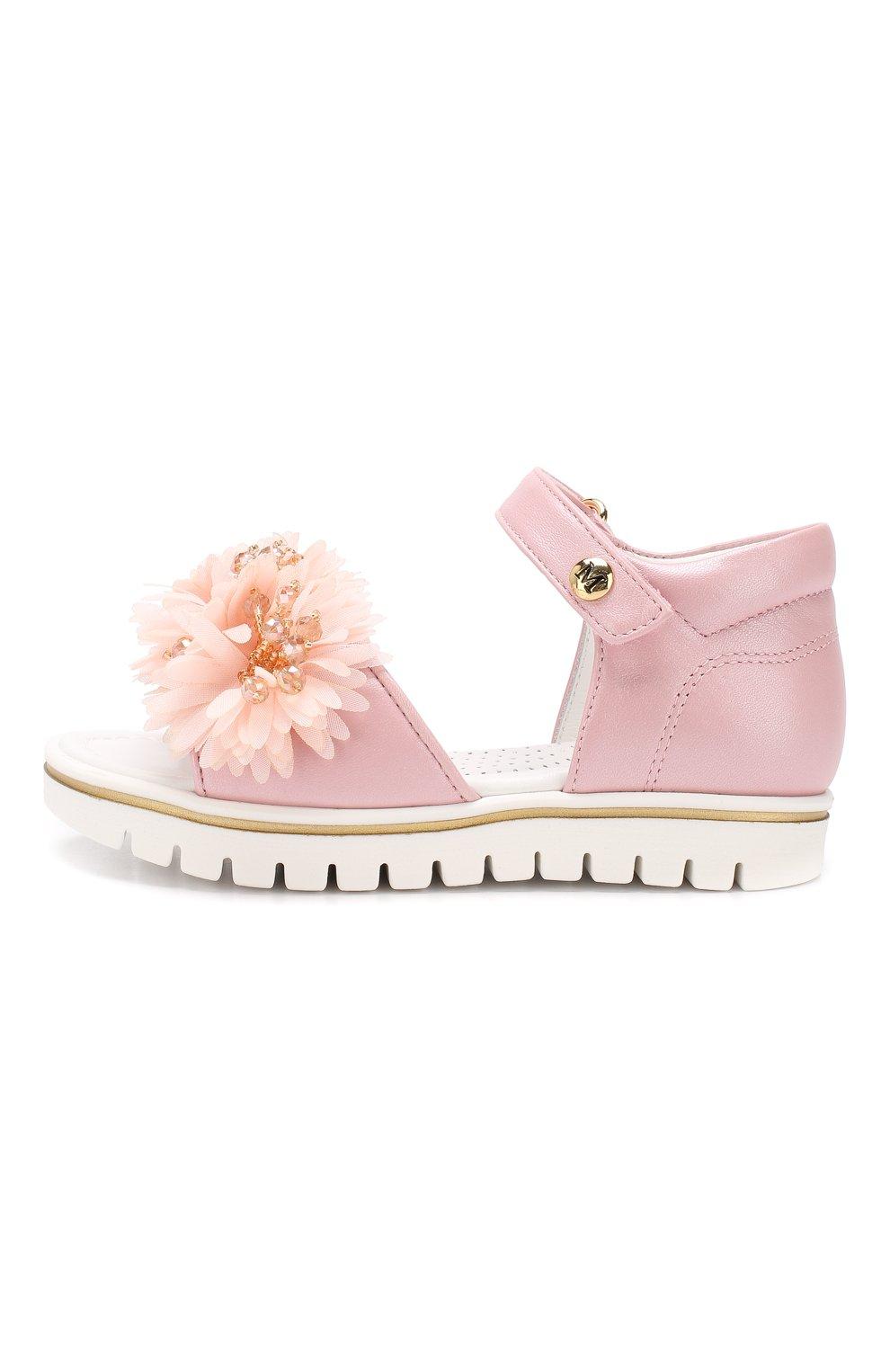 Детские кожаные сандалии с застежкой велькро MISSOURI розового цвета, арт. 5114/18-26 | Фото 2