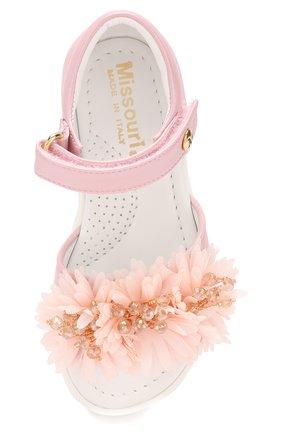 Детские кожаные сандалии с застежкой велькро MISSOURI розового цвета, арт. 5114/18-26 | Фото 4