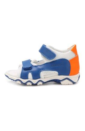 Кожаные сандалии с застежкой велькро | Фото №2