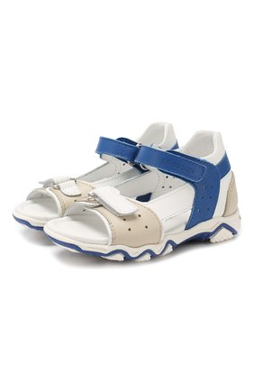 Детские кожаные сандалии с застежкой велькро MISSOURI разноцветного цвета, арт. 6013/18-26 | Фото 1