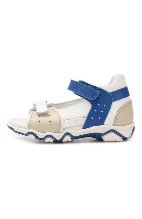 Детские кожаные сандалии с застежкой велькро MISSOURI разноцветного цвета, арт. 6013/18-26 | Фото 2