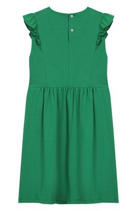 Детское хлопковое платье GUCCI зеленого цвета, арт. 503462/X9N98 | Фото 2