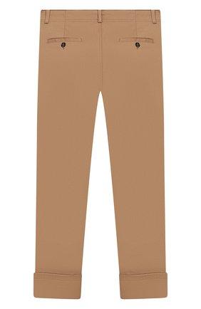 Детские хлопковые брюки GUCCI бежевого цвета, арт. 475447/XBB56 | Фото 2