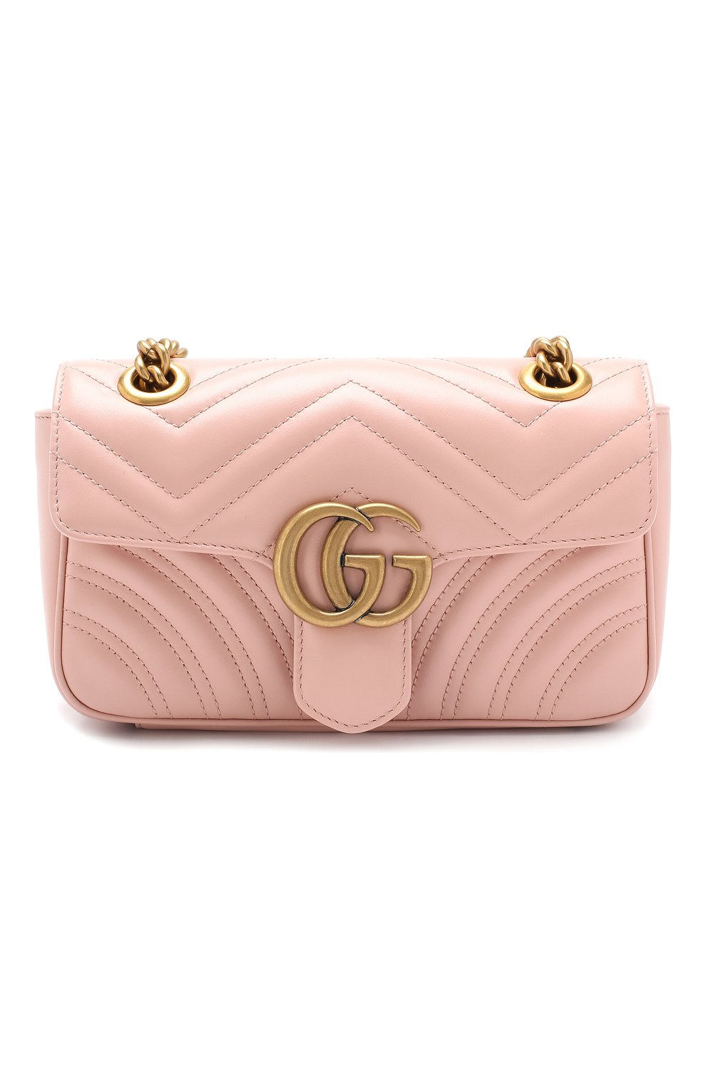 Сумка GG Marmont Gucci розовая цвета | Фото №1