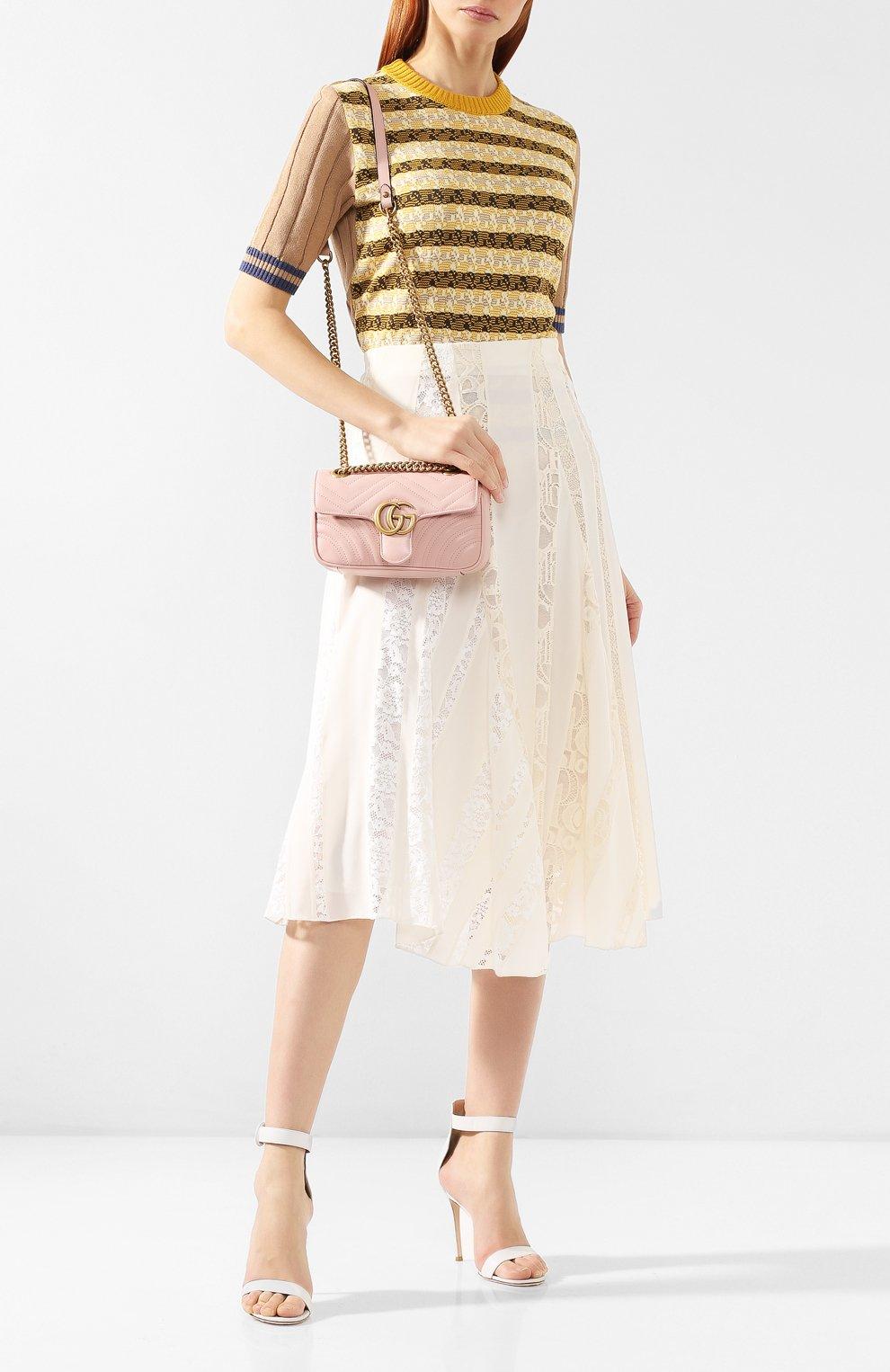 Сумка GG Marmont Gucci розовая цвета | Фото №2
