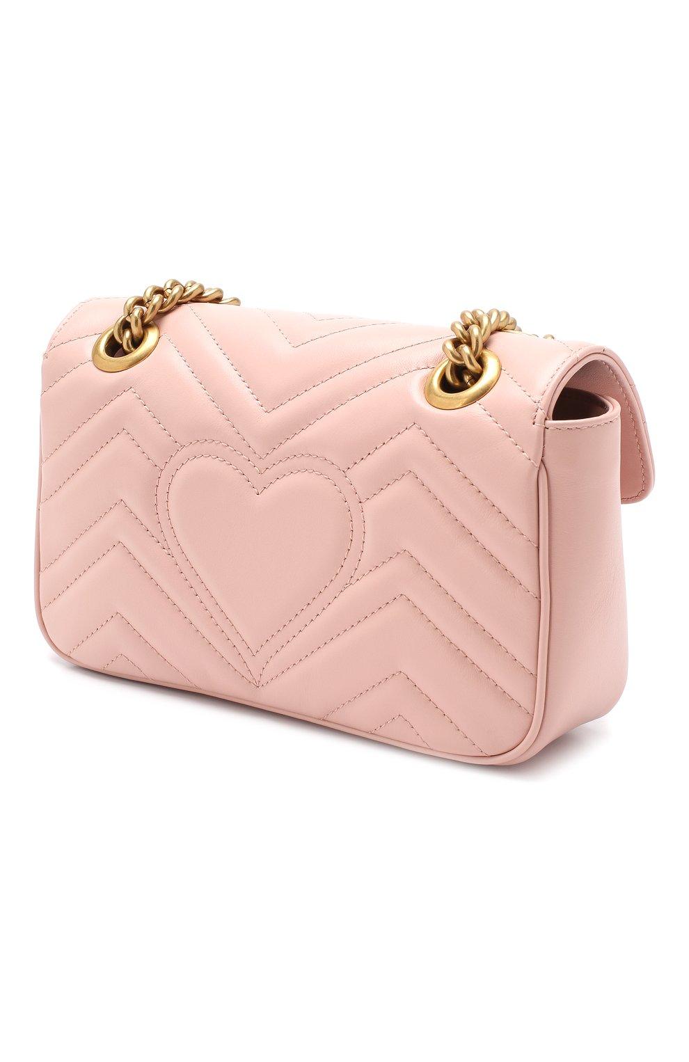 Сумка GG Marmont Gucci розовая цвета | Фото №3
