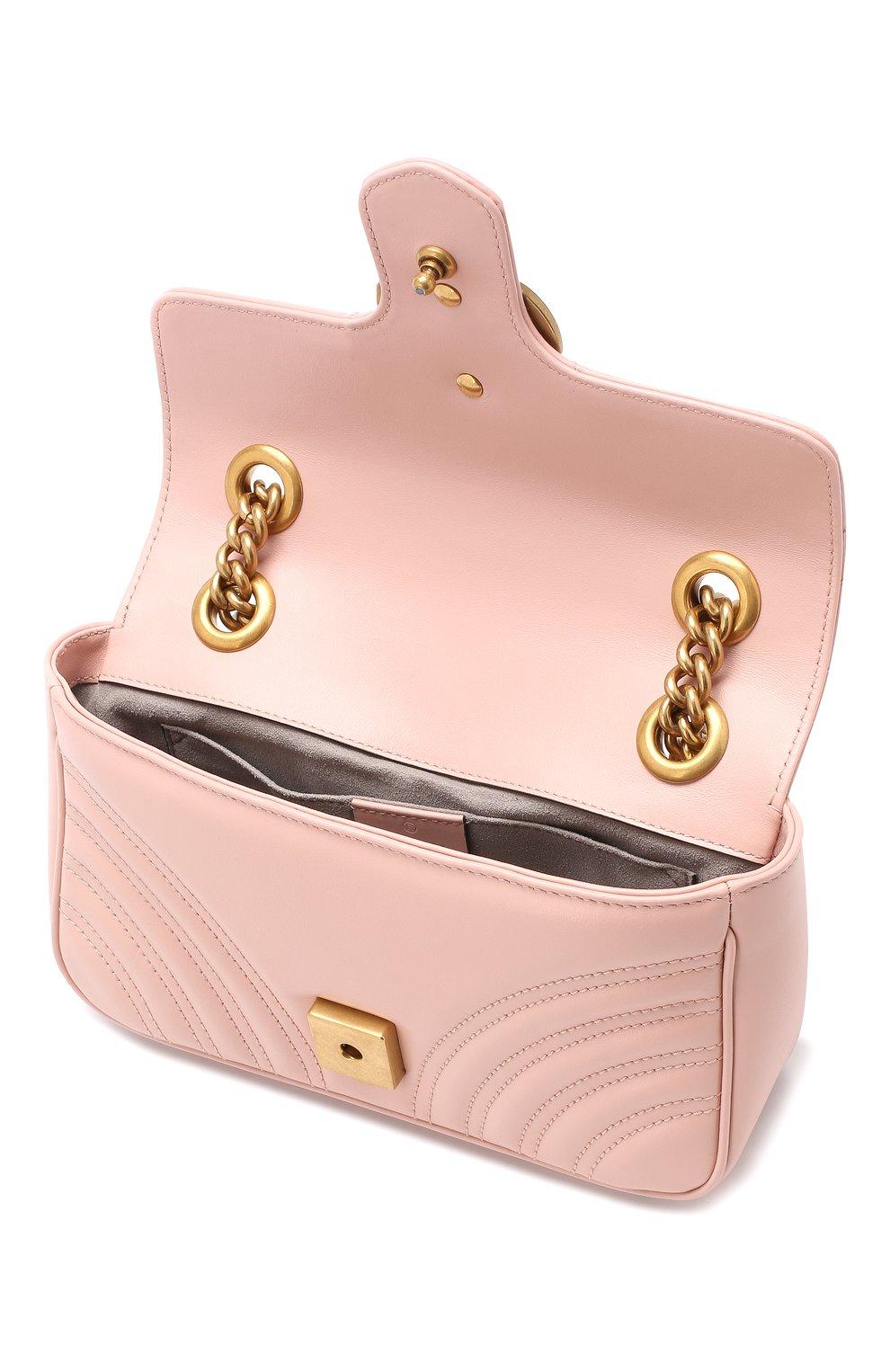 Сумка GG Marmont Gucci розовая цвета | Фото №4