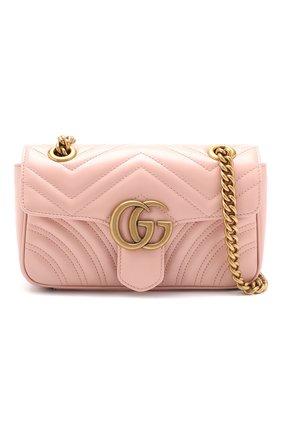 Сумка GG Marmont Gucci розовая цвета | Фото №5
