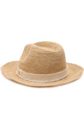 Соломенная шляпа с лентой Heidi Klein бежевого цвета   Фото №2