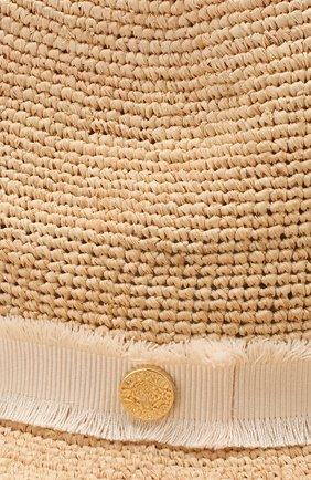Соломенная шляпа с лентой Heidi Klein бежевого цвета   Фото №3