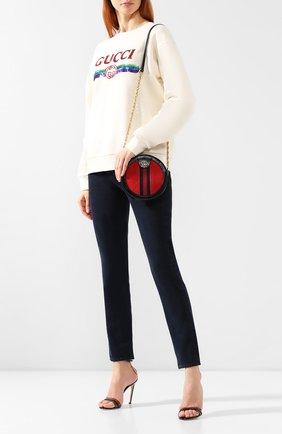 Сумка Ophidia mini Gucci красная цвета | Фото №2