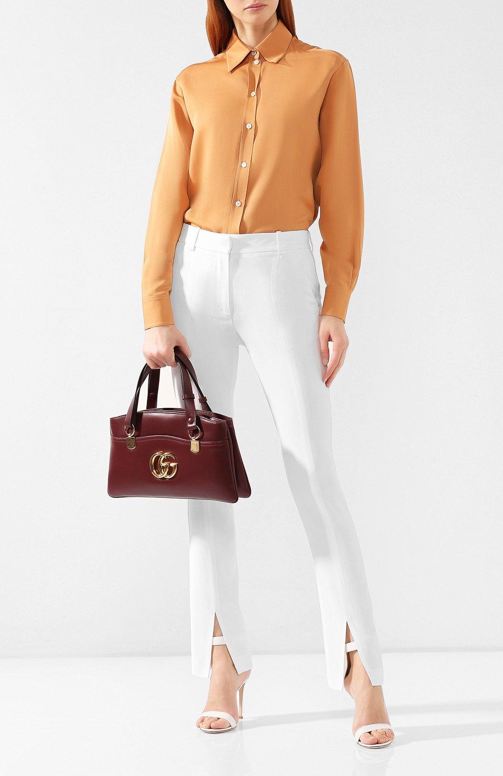 Сумка Arli large Gucci  бордовая цвета | Фото №2