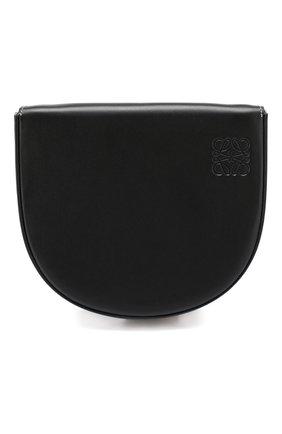 Кожаная сумка Heel Loewe черная цвета | Фото №1