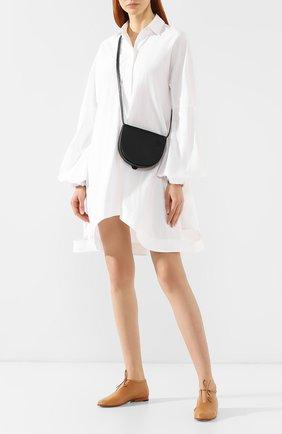 Кожаная сумка Heel Loewe черная цвета | Фото №2