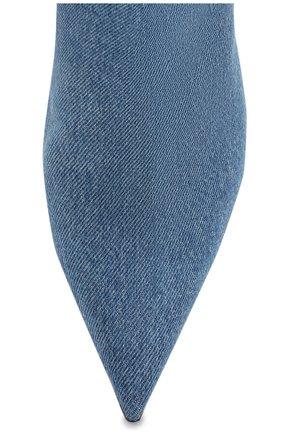 Текстильные ботфорты Versace голубые | Фото №5