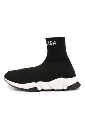 Текстильные кроссовки Speed Balenciaga черные | Фото №3