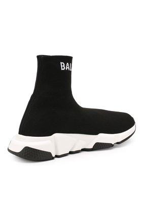 Текстильные кроссовки Speed Balenciaga черные | Фото №4