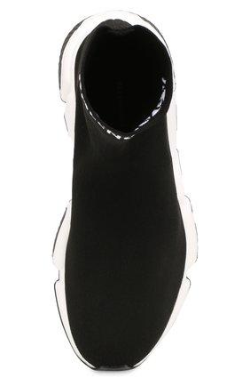 Текстильные кроссовки Speed Balenciaga черные | Фото №5