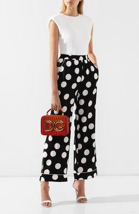 Сумка DG Girls Dolce & Gabbana красная цвета | Фото №2