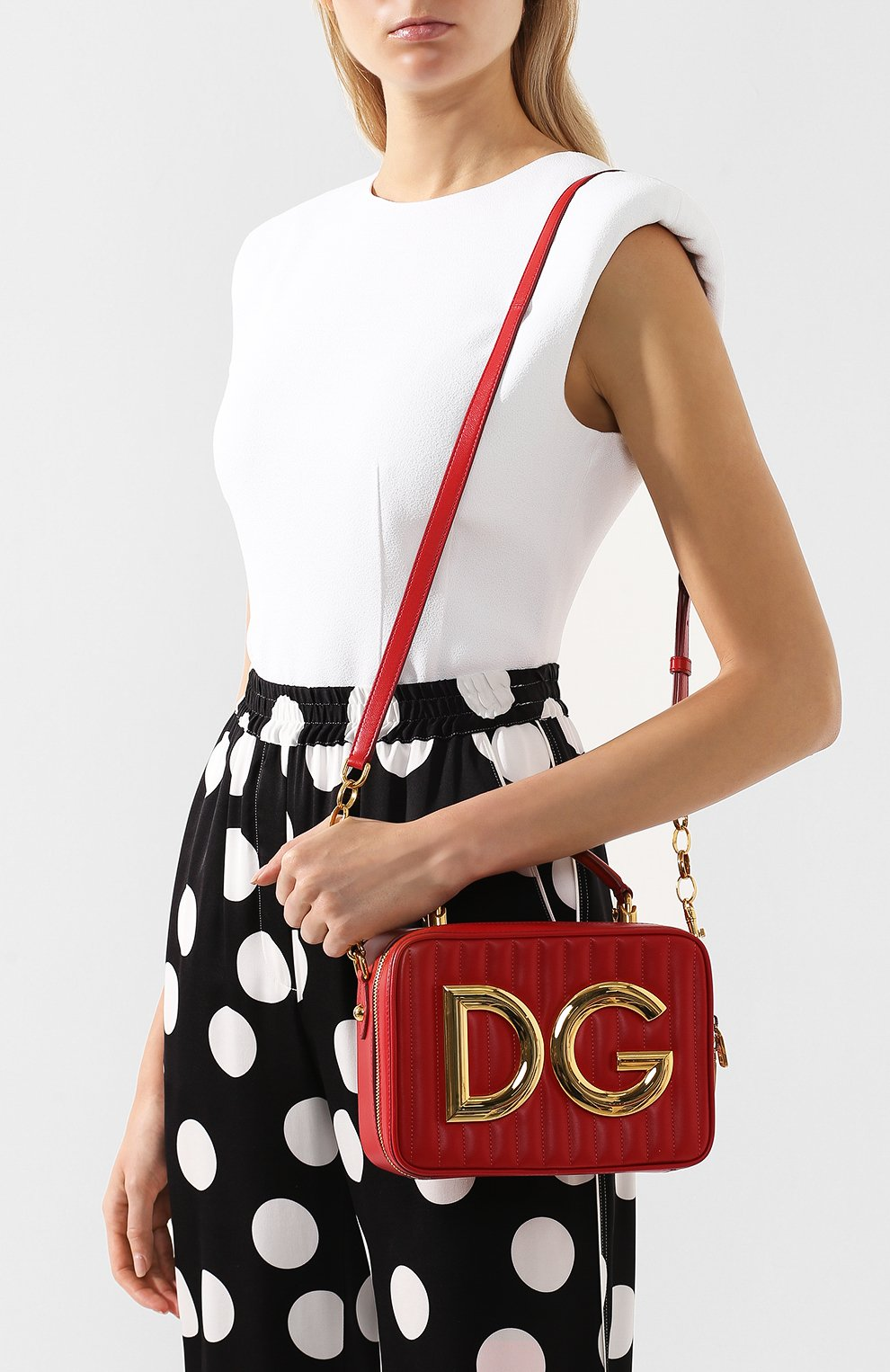 Сумка DG Girls Dolce & Gabbana красная цвета | Фото №5