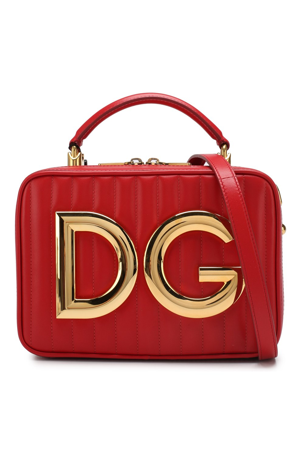 Сумка DG Girls Dolce & Gabbana красная цвета | Фото №6