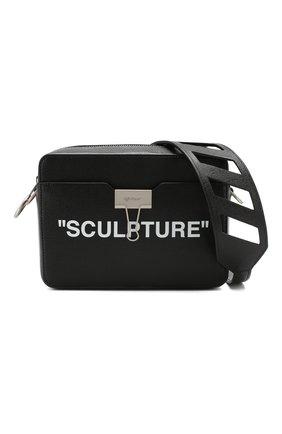 Поясная сумка Sculpture Binder Clip Off-White черная | Фото №7