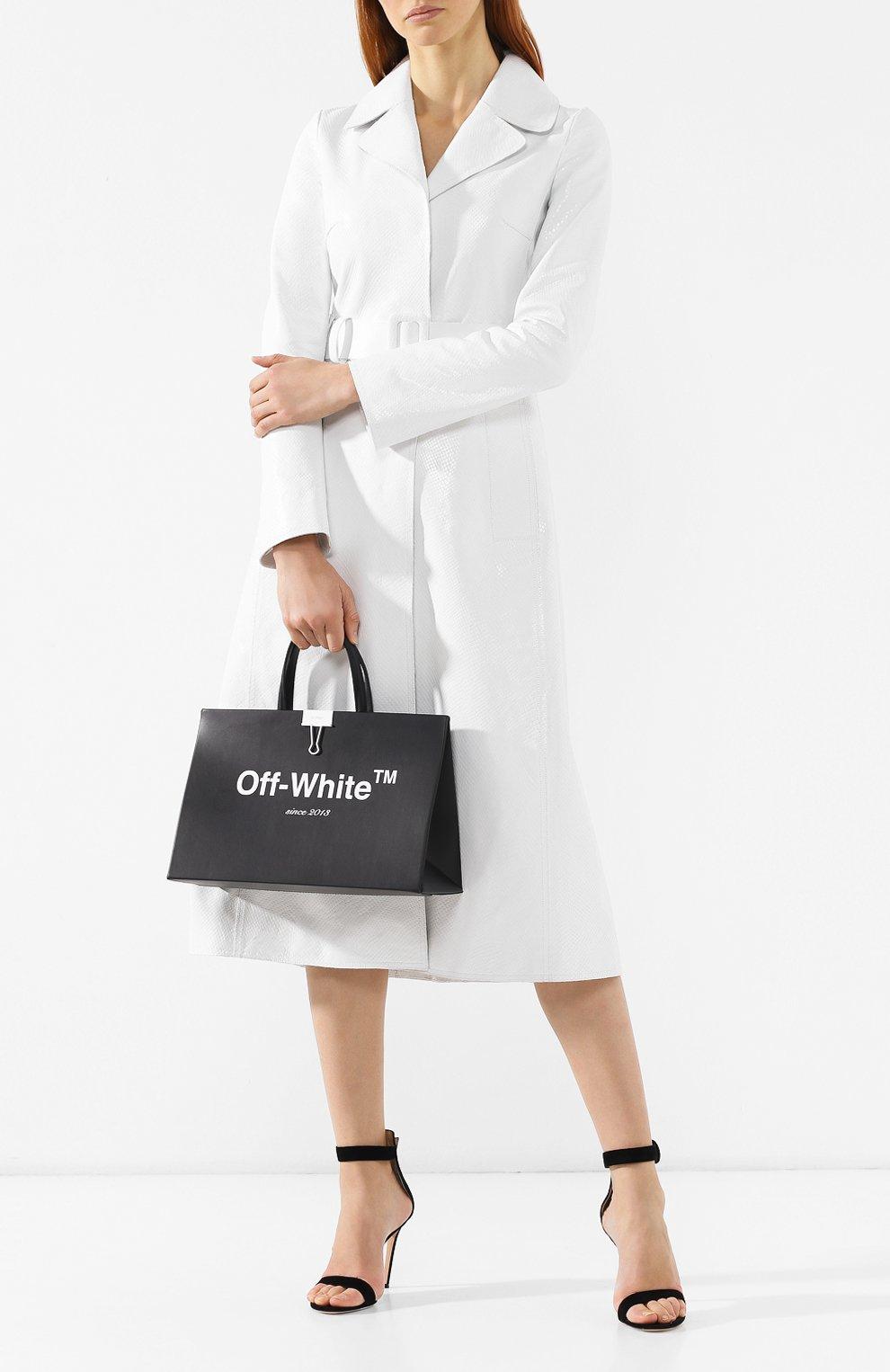 Сумка Box Off-White черная цвета | Фото №2