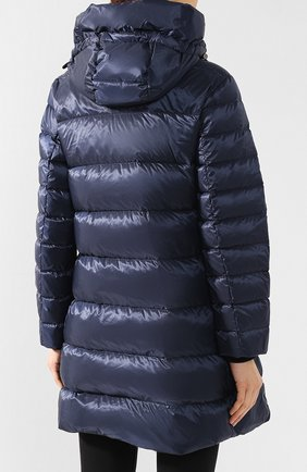 Пуховое пальто Burberry темно-синего цвета | Фото №4