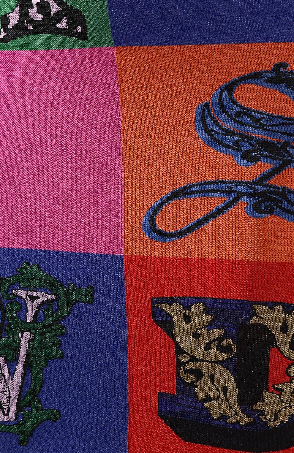 Платье из вискозы Versace разноцветное   Фото №5
